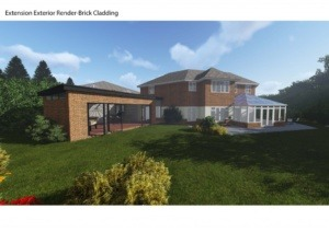 Double storey side extension, conservatory game room