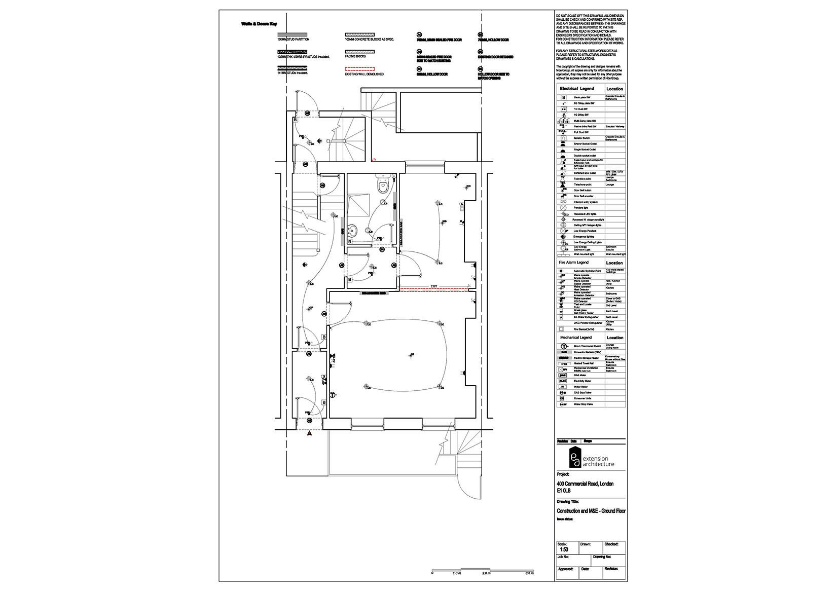 RESIDENTIAL 400CR proposed_basement extension in Croydon