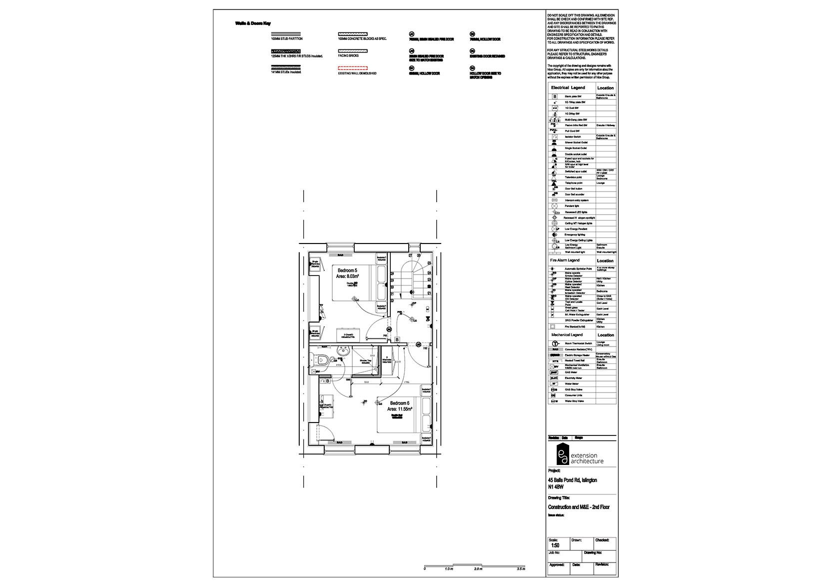 RESIDENTIAL 45 BPR_ M&E_single storey rear extension…page 03