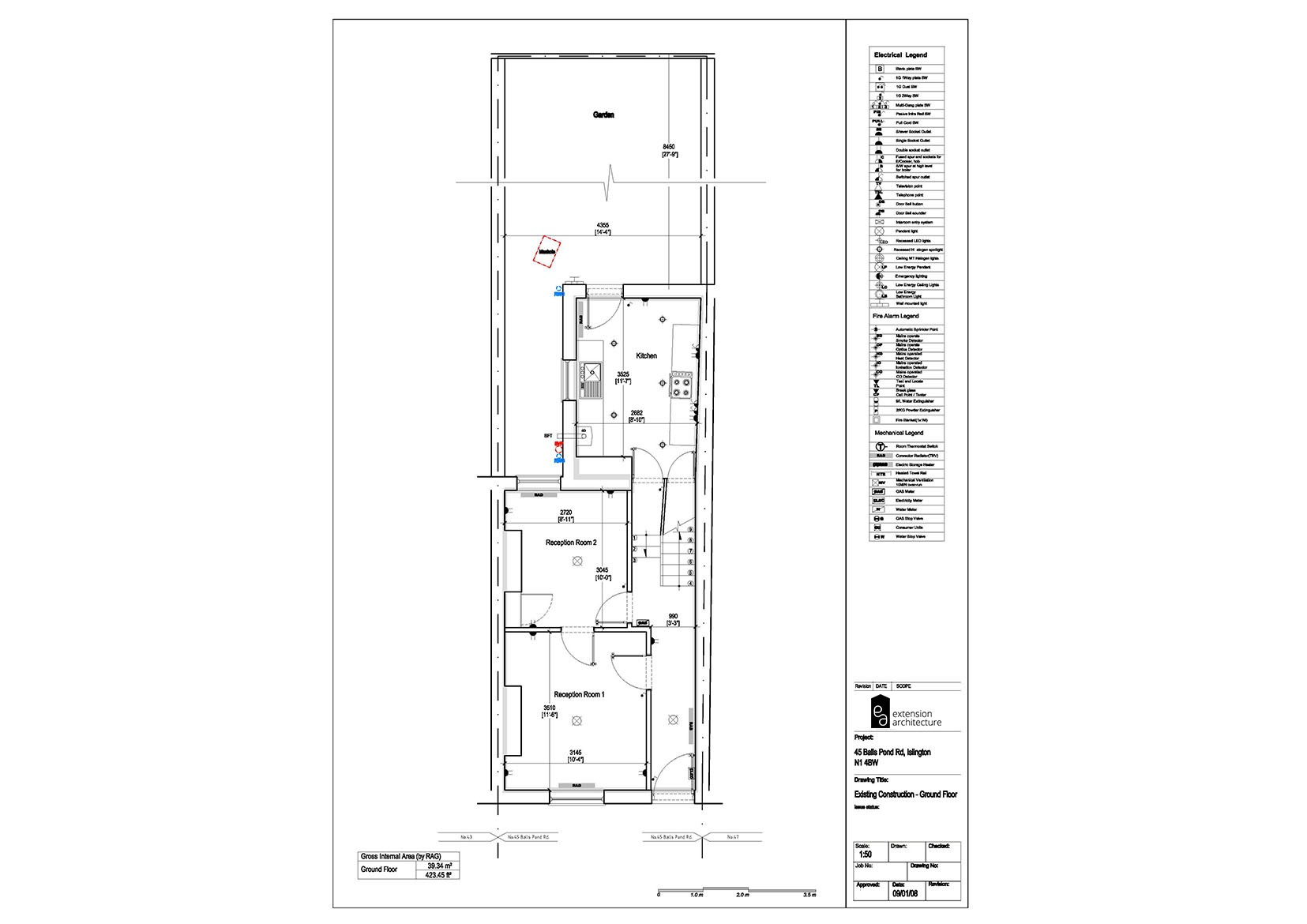 RESIDENTIAL 45 BPR_existing_single storey rear extension…page 01