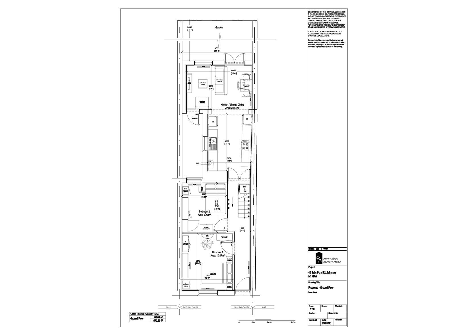 RESIDENTIAL 45 BPR_proposed_single storey rear extension…page 01