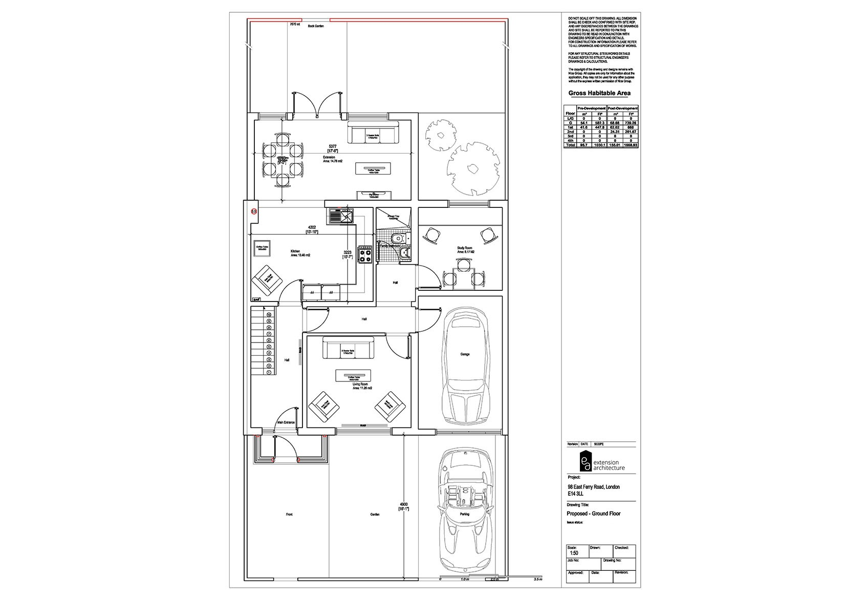RESIDENTIAL 98 EFR proposed-double storey extension...page 01