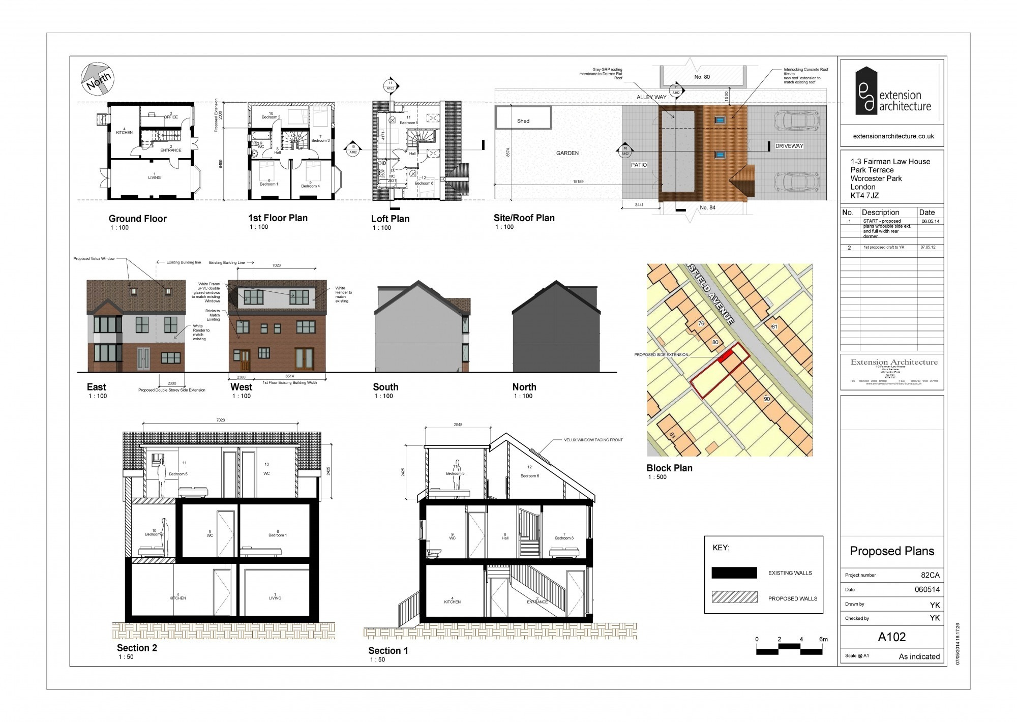 Planning applications and permissions in bromley london for House extension drawings