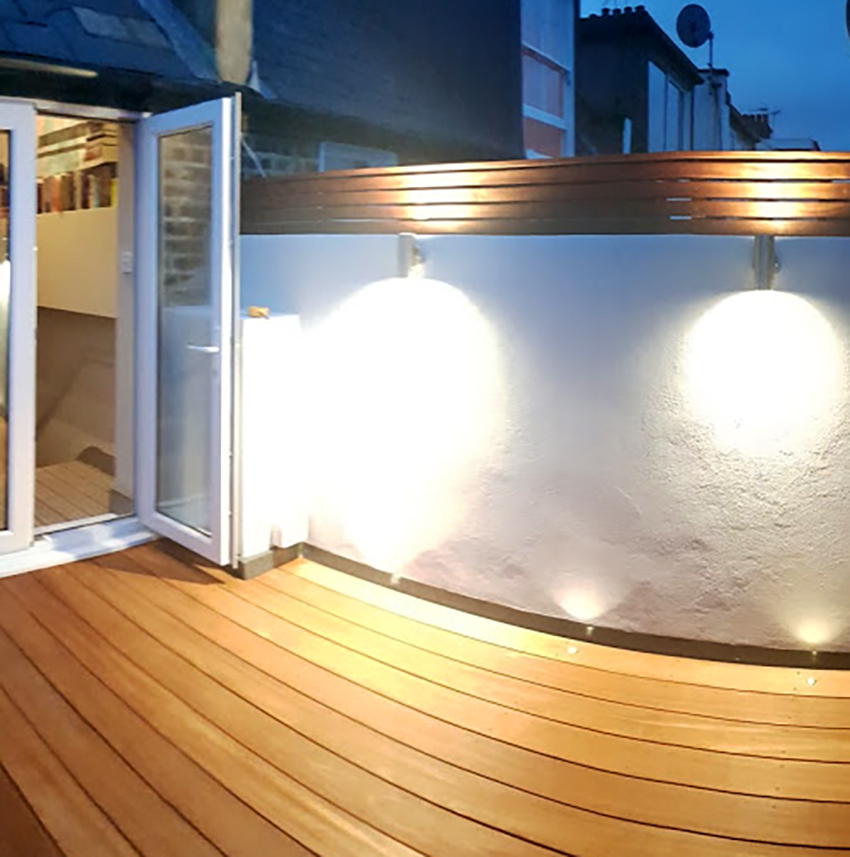 photo of balcony on portfolio article for Loft Conversion and Roof Terrace