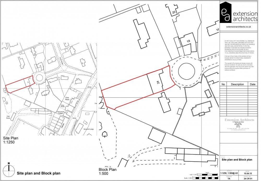 24CR01 Site plan and Block plan