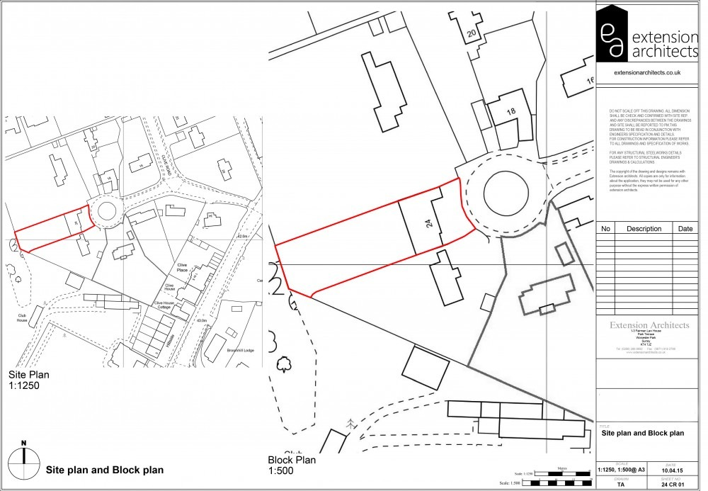 24CR01 Site plan and Block plan