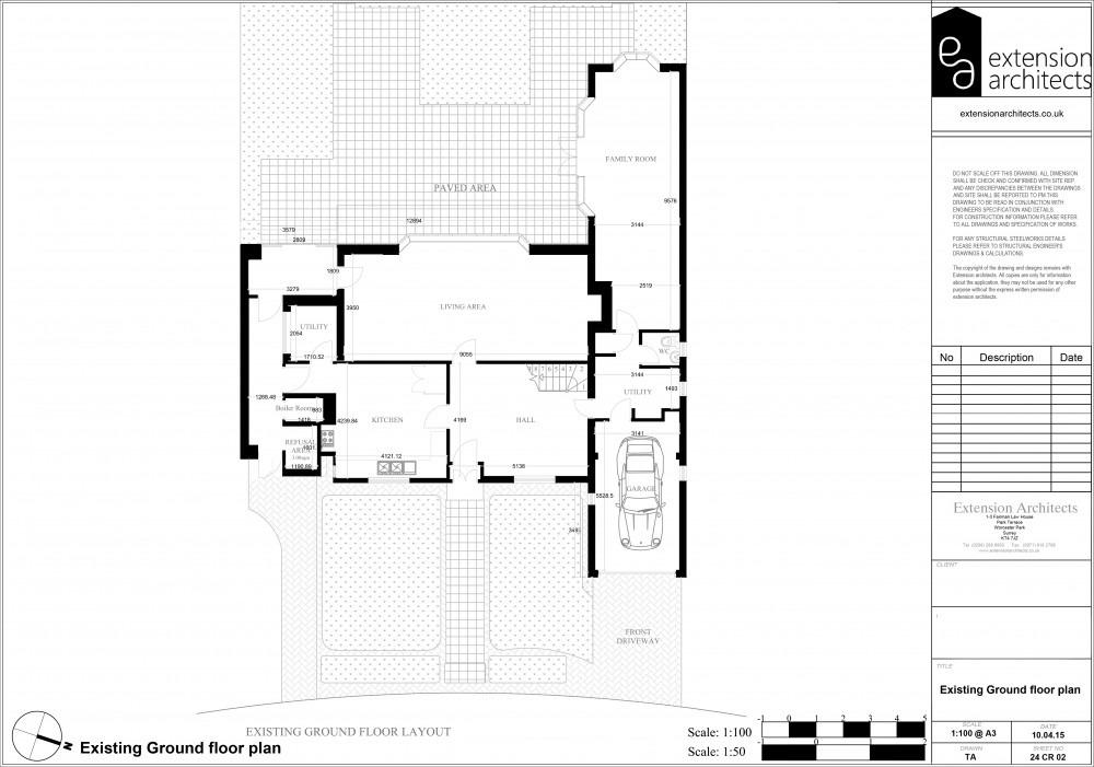 24CR02 Existing ground floor plan
