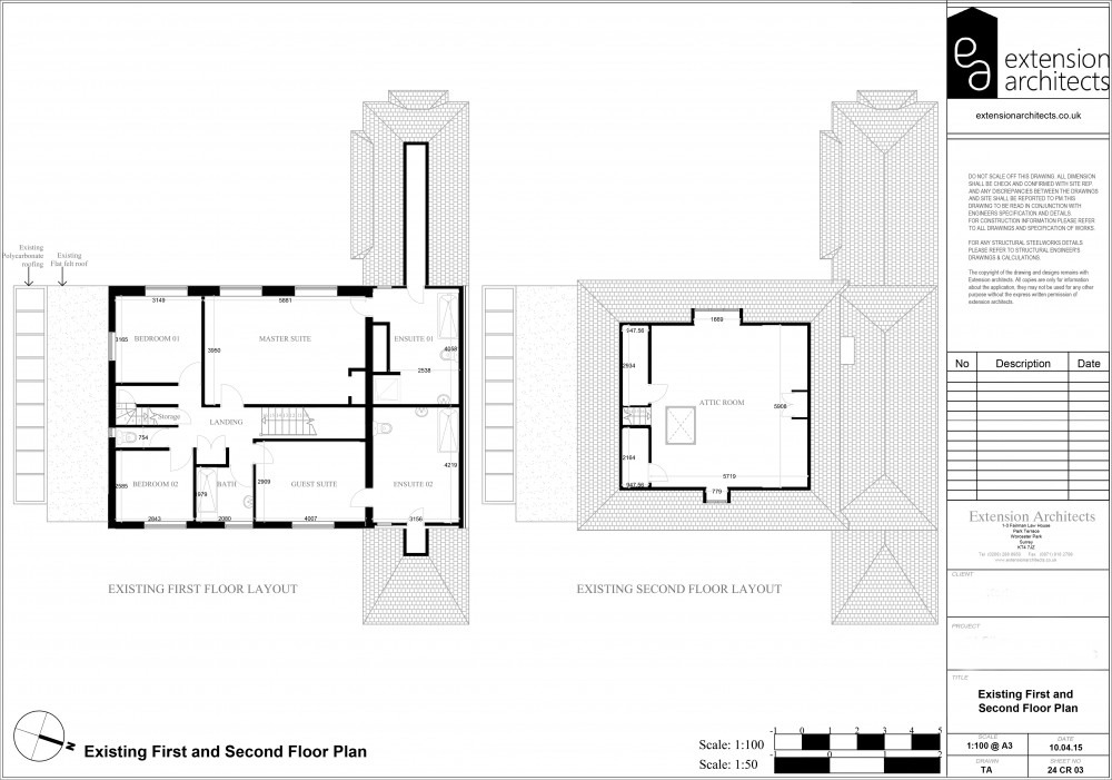 24CR03 Existing first and second floor plan