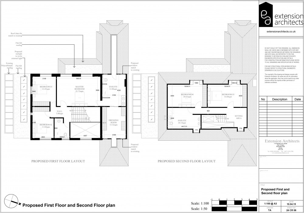 24CR06 Proposed first and second floor plan
