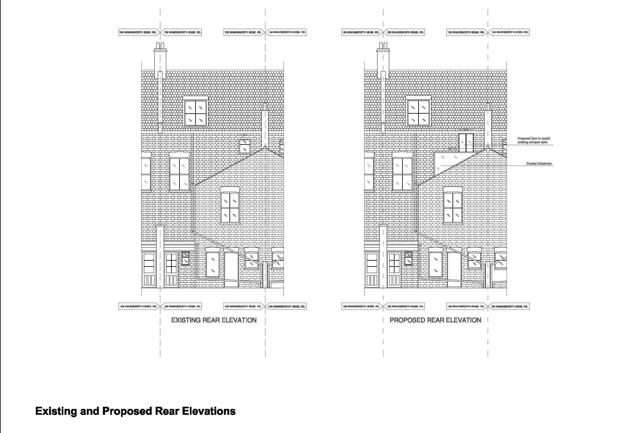 Double-Storey-extension-in-Hammersmith-&-Fulham-Rear-Elevation