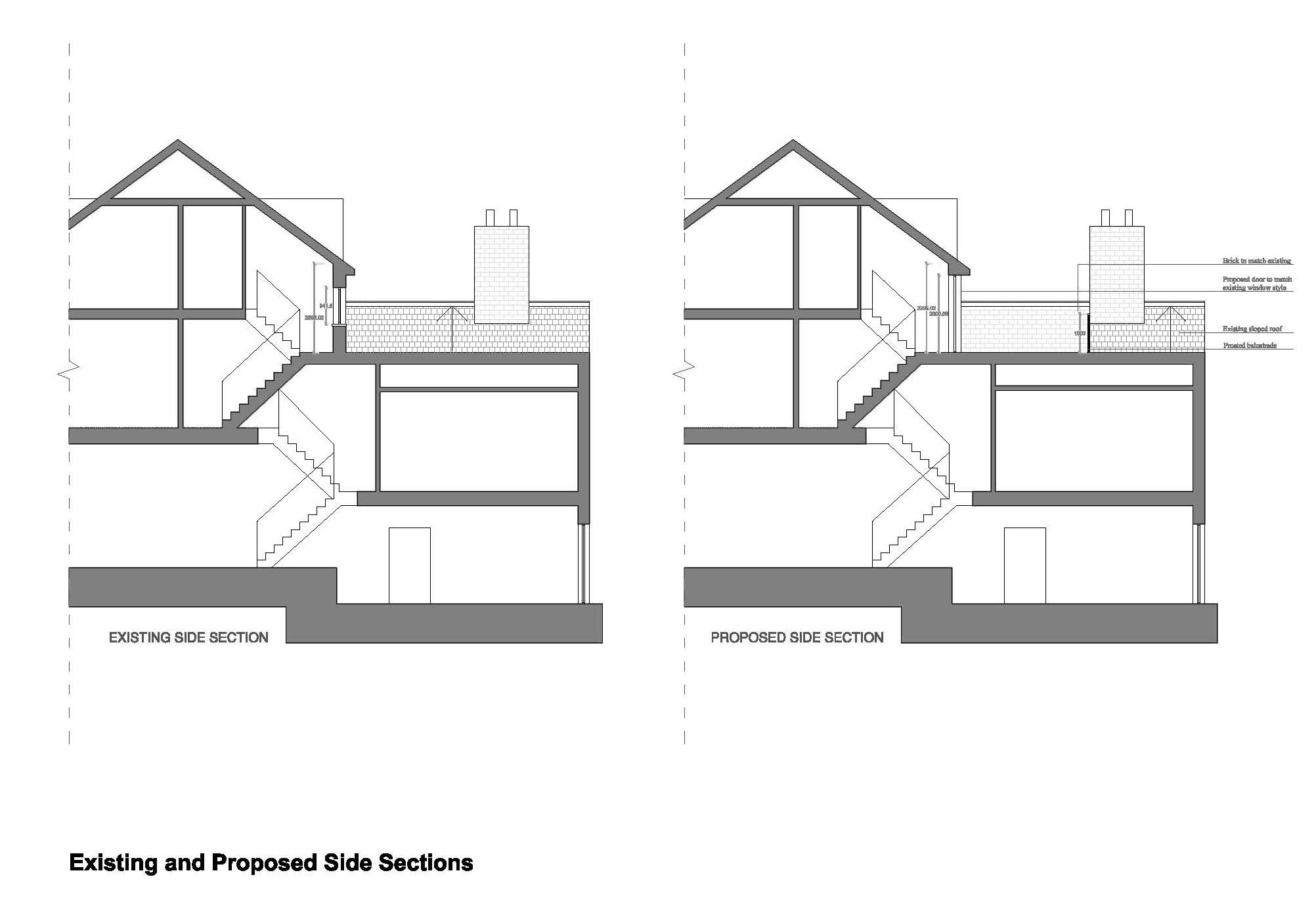 Double-Storey-extension-in-Hammersmith-&-Fulham-Side-Elevation