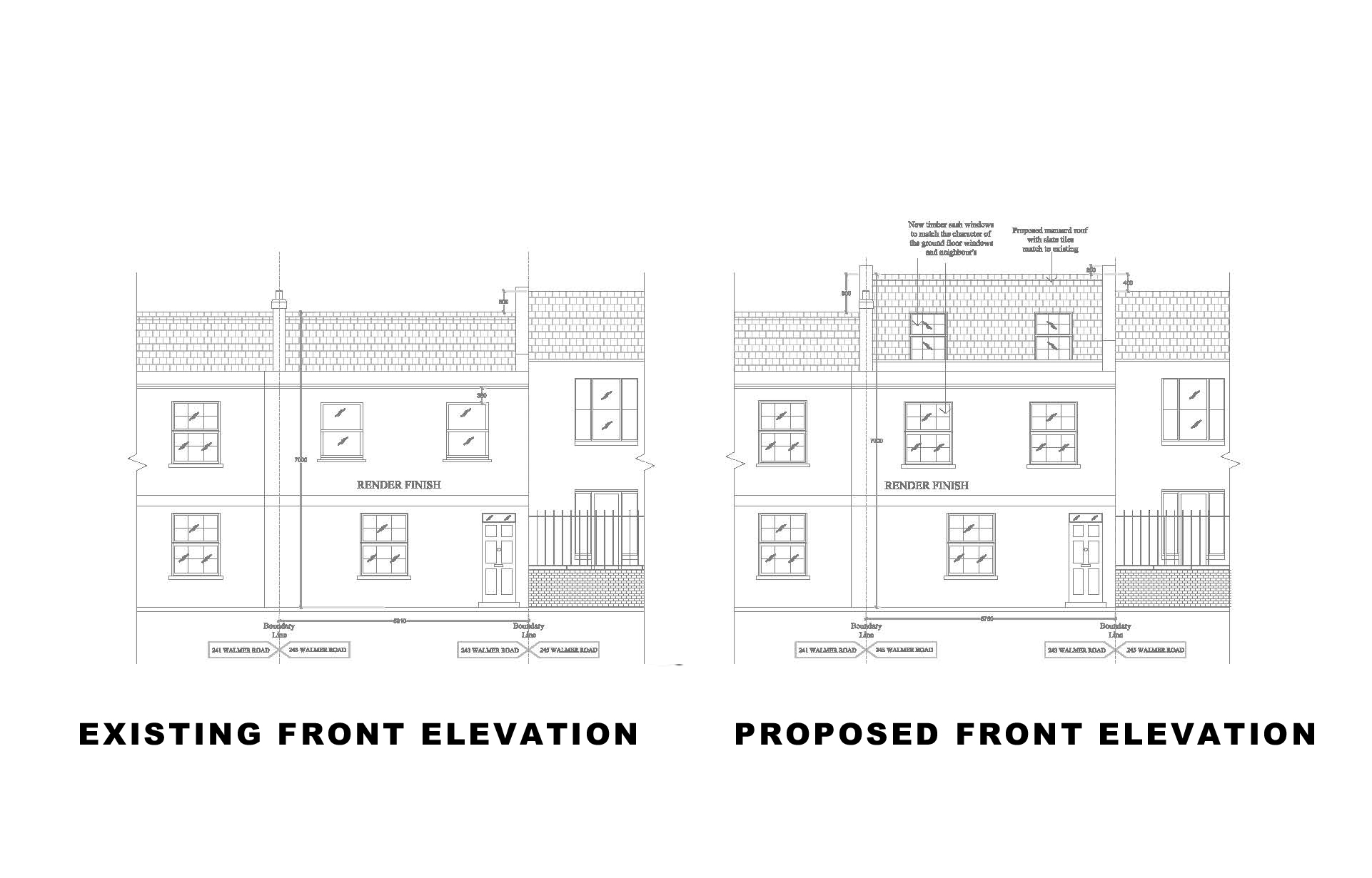 Front Elevation Planning Permission : Kensington and chelsea front elevation extension