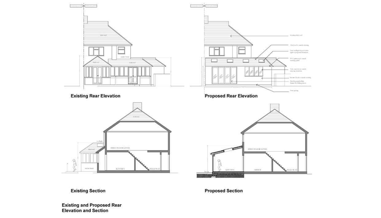 Kingston council rear elevation extension architecture for What is rear elevation