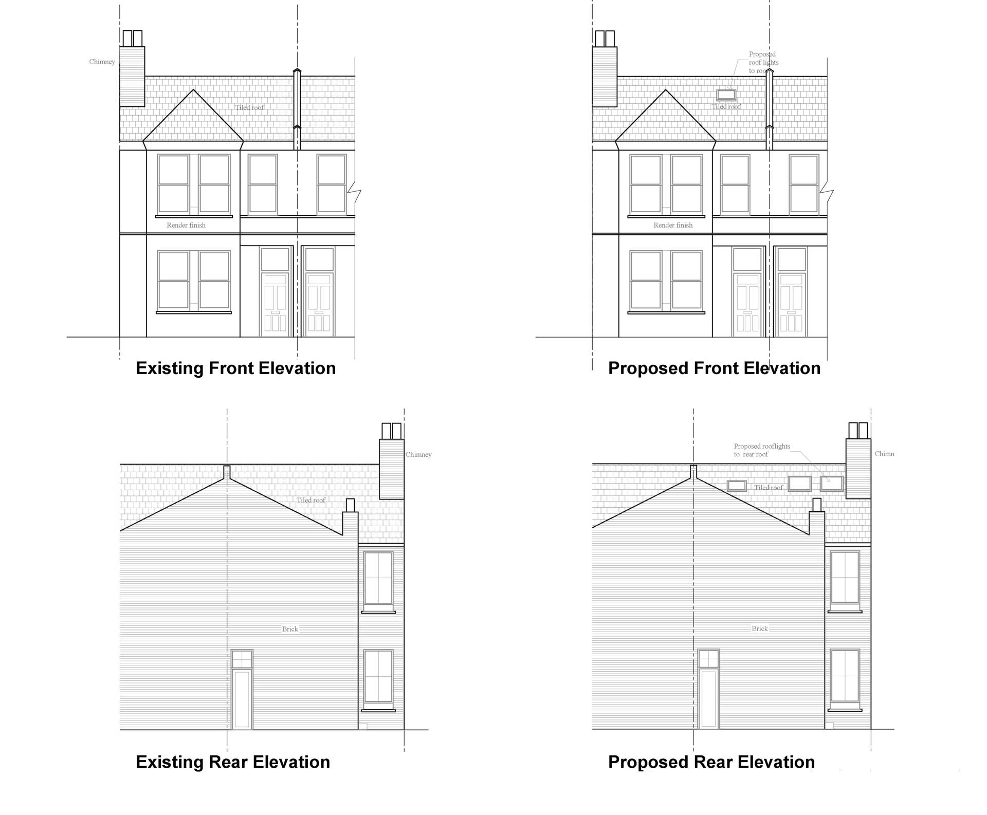 Front Elevation Planning Permission : Lambeth council front and rear elevation extension