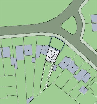 block plan for portfolio project on single storey extension planning