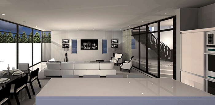 interior render of dining area for 3D visuals article