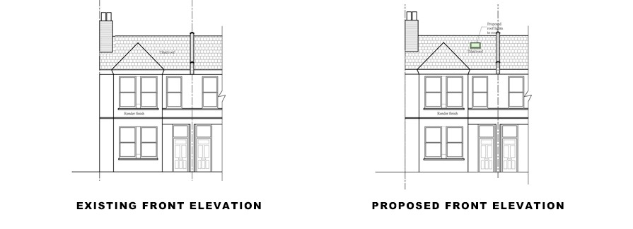 front-elevations for plans for rear elevations for photo of facade on Lambeth planning application