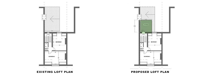 loft-plans for Loft Conversion and Roof Terrace portfolio article