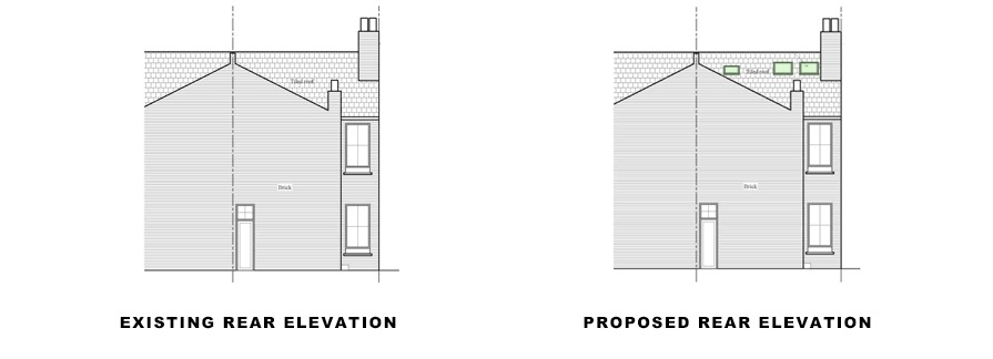 rear elevations for photo of facade on article for lambeth planning application