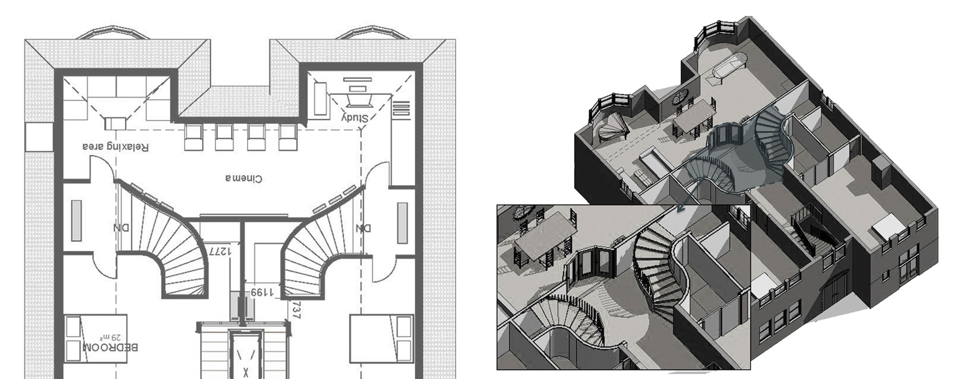Roof-Conversion-WimbledonMerton-Spiral-Stairs
