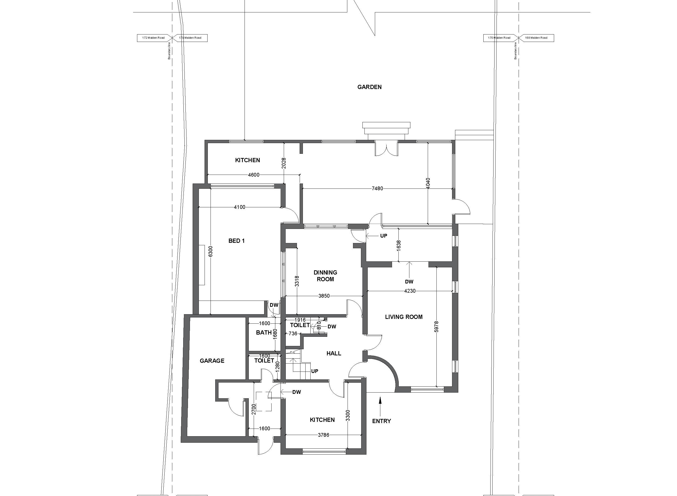 1 existing gound floor