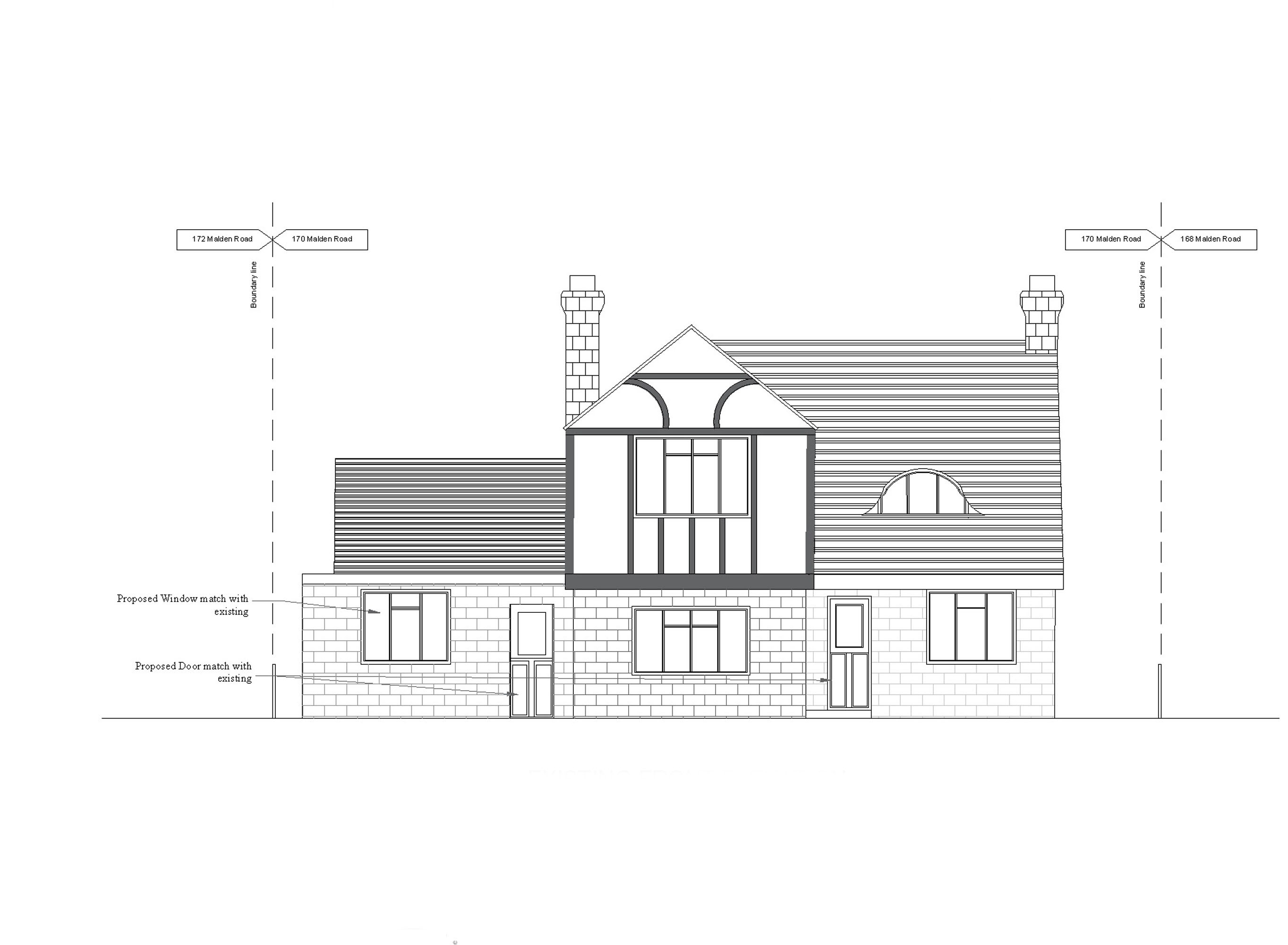 12 proposed front elevation