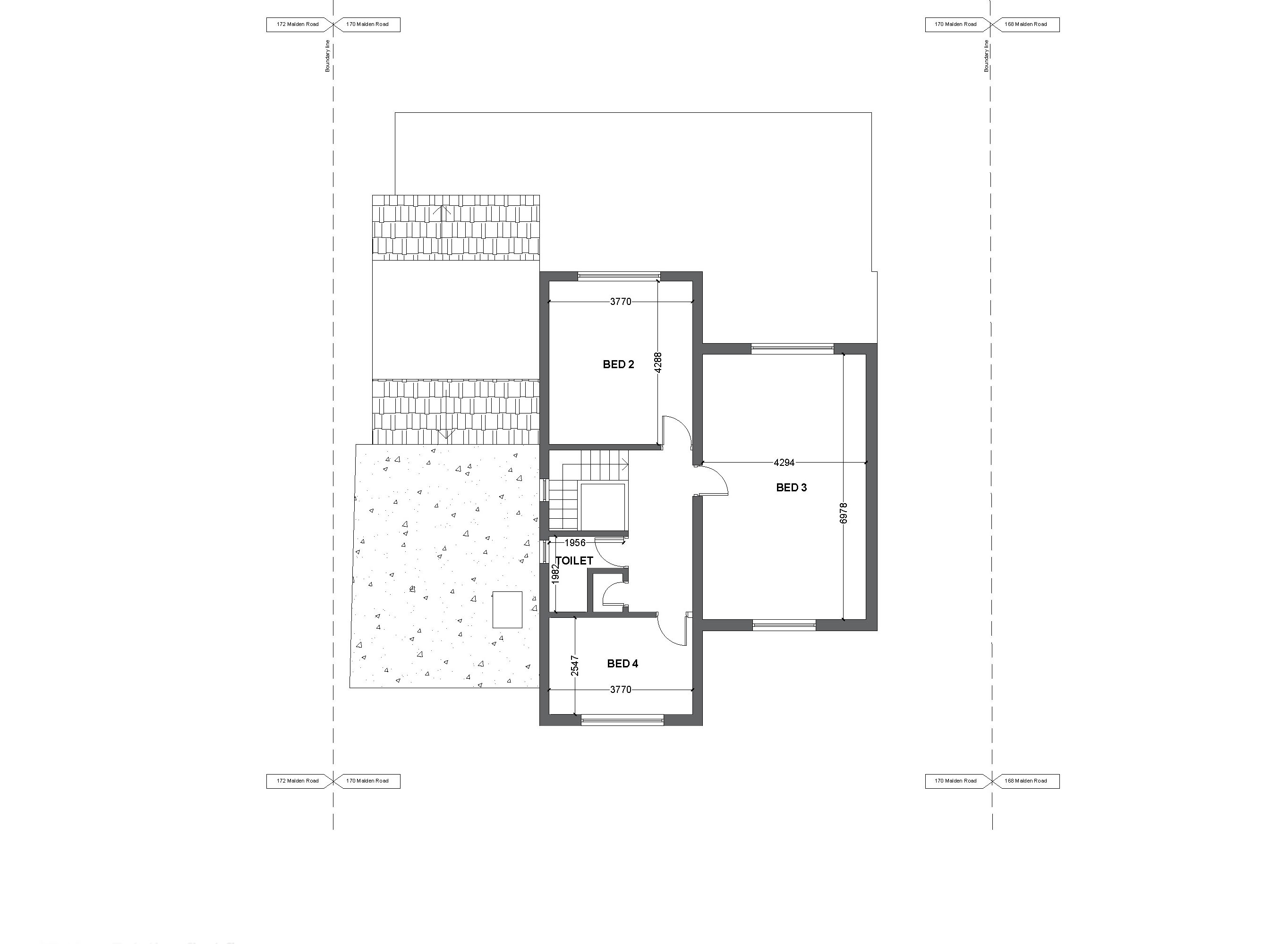 2 existing first floor