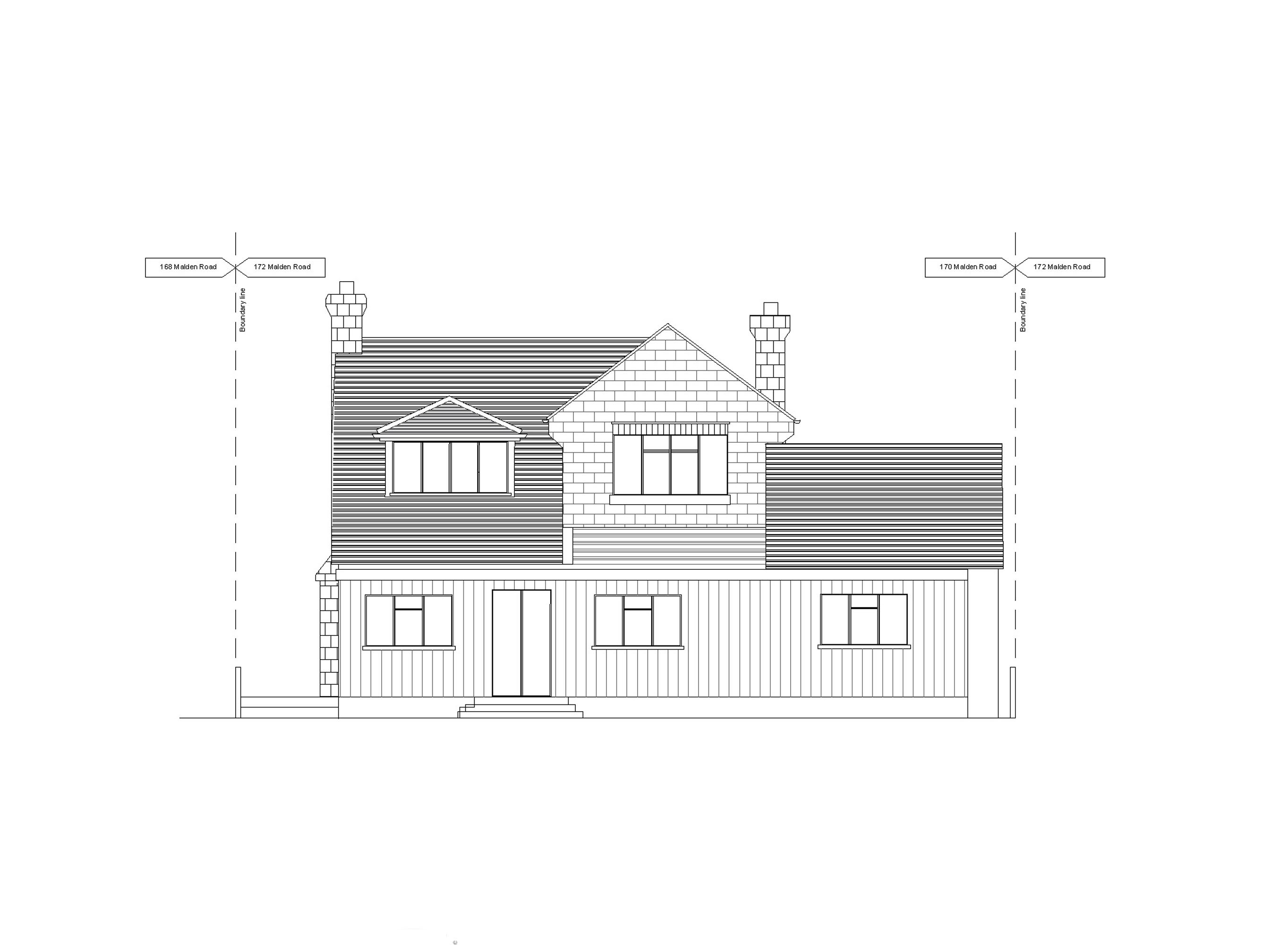 5 exitsting rear elevation