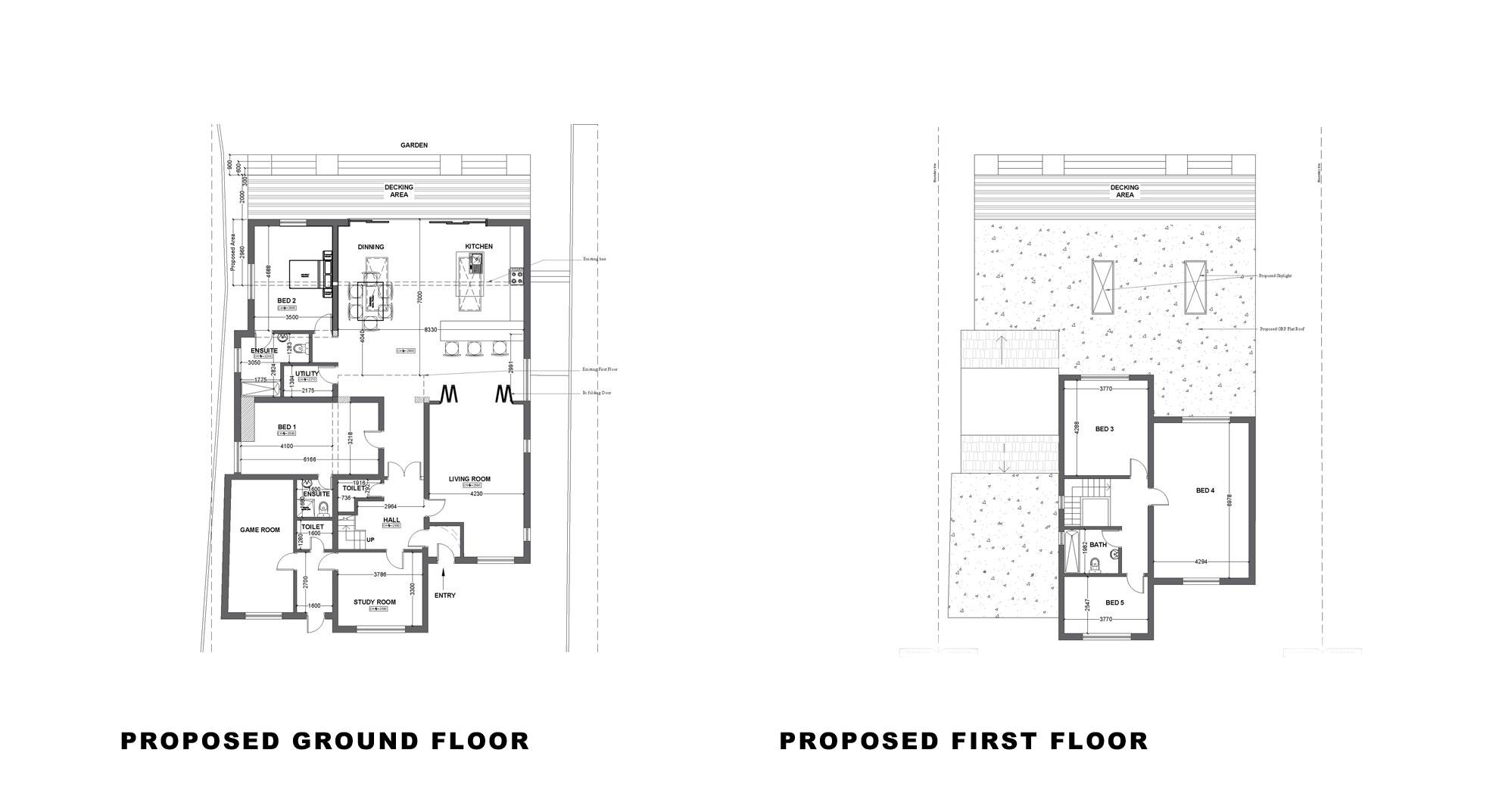 Single storey extension garage conversion in kingston for Garage extension plans