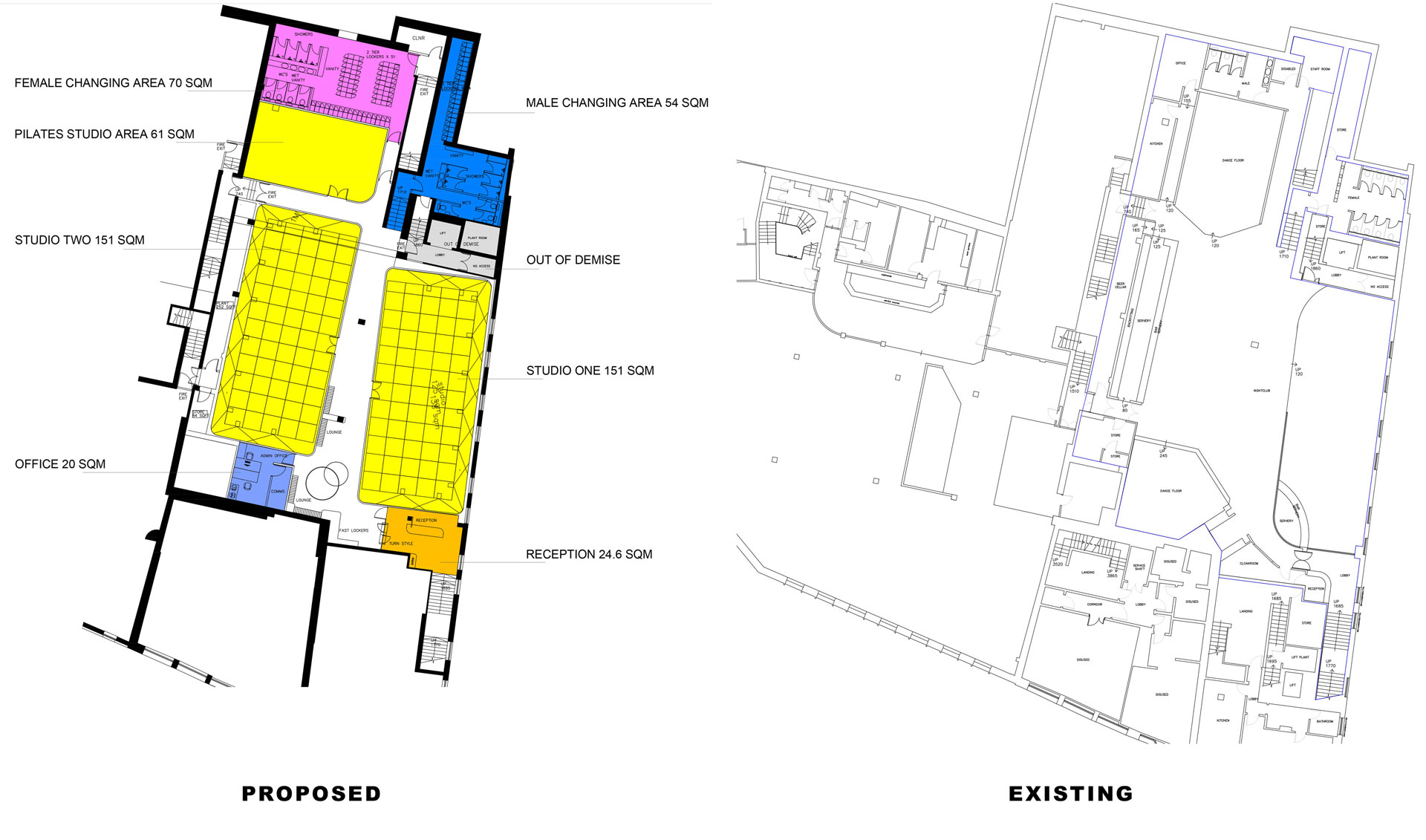 Change-of-Use-in-Croydon,-from-a-nightclub-to-a-Gym-Proposed-and-existing