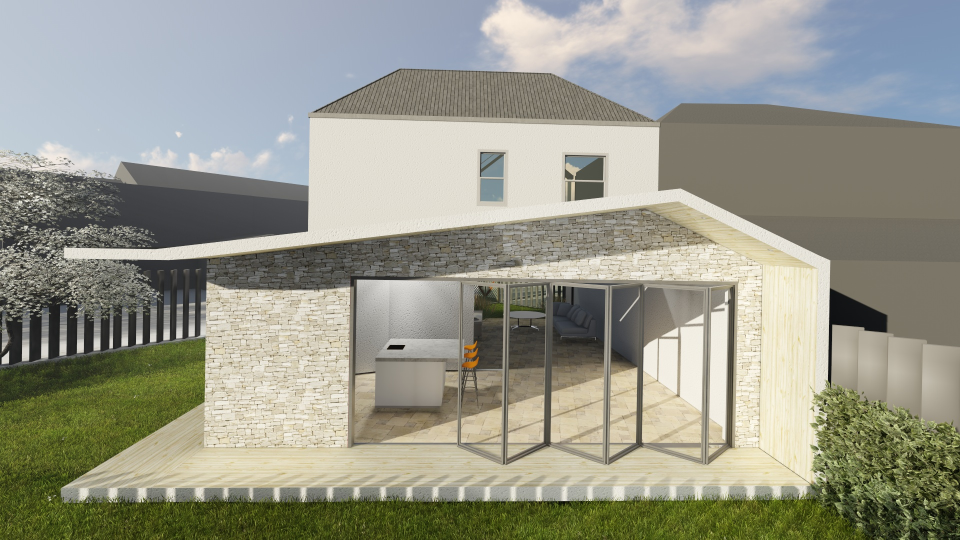 planning single storey rear extension longon Extension architecture