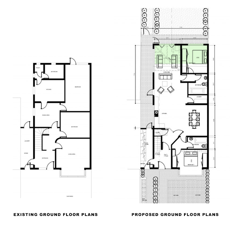 ground plans for single storey rear extension in croydon