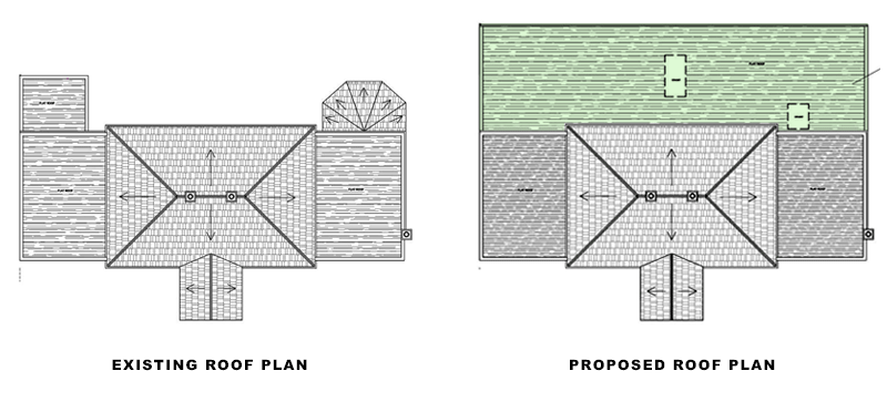 roof plans for portfolio article on Extension in Waltham Forest