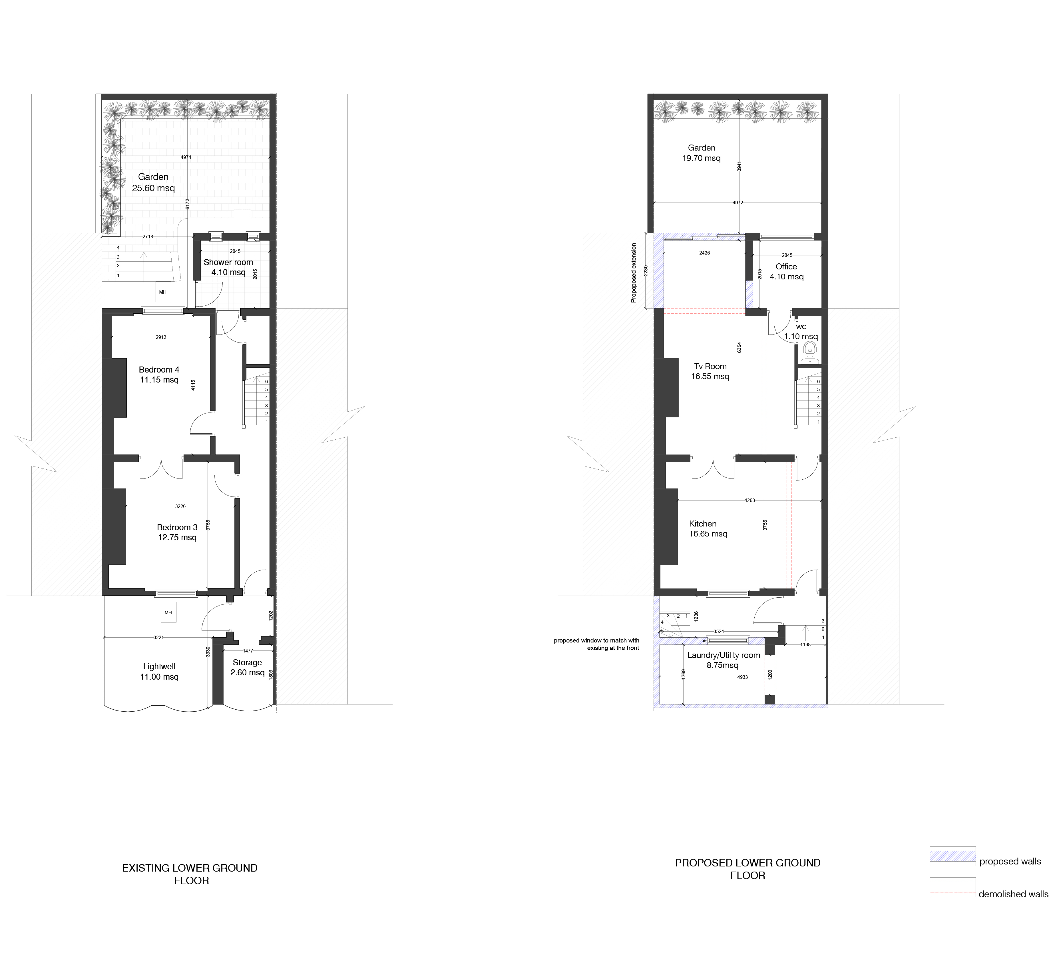 Existing & Proposed Ground Floor