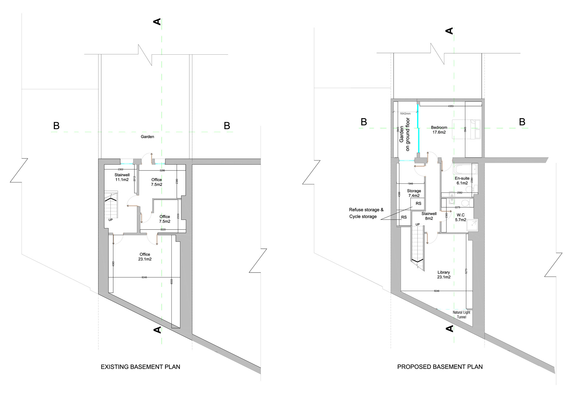 Basement-Extension-in-Islington-Basement-Floor-Plan