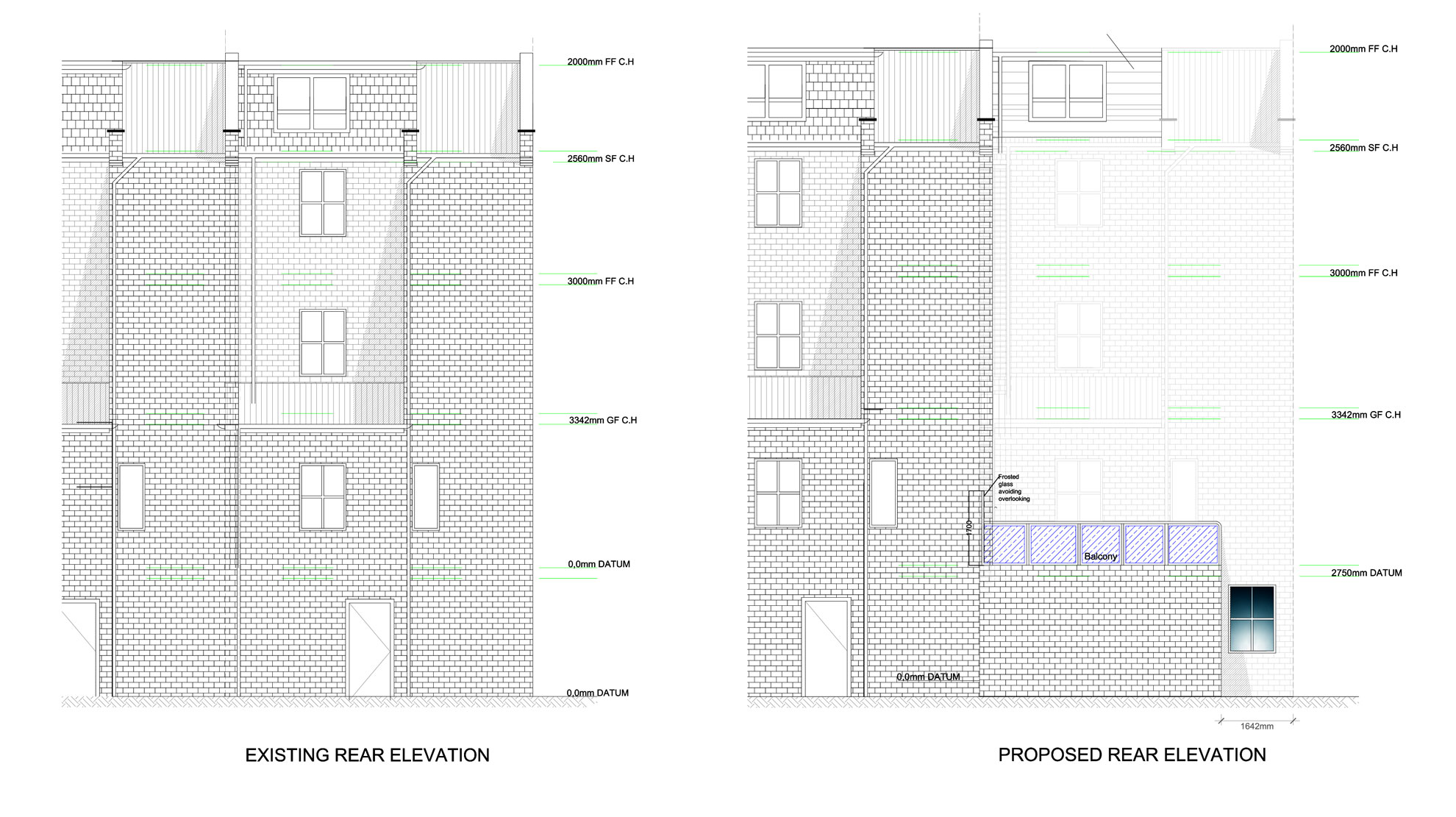 Basement-Extension-in-Islington-Proposed-Rear-Elevation