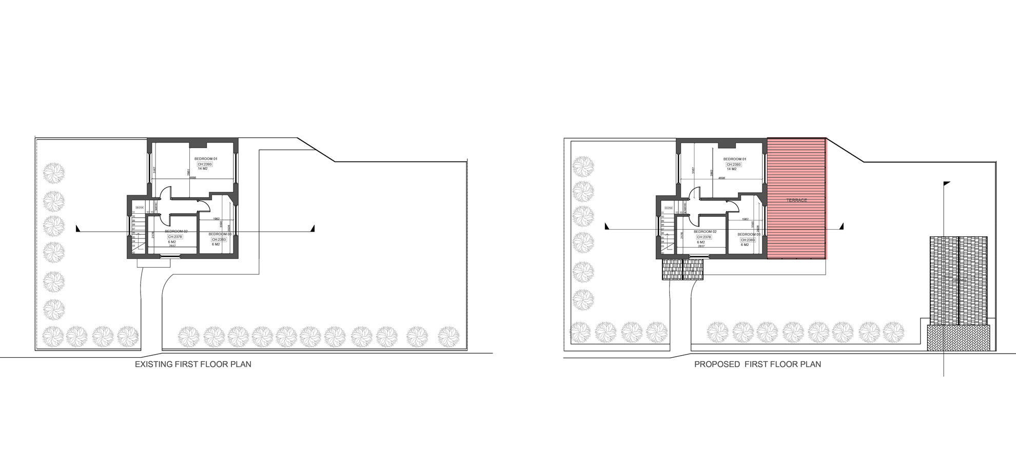 Roof-Terrace-&-Garage-conversion-in-Croydon-First-Floor-Plan