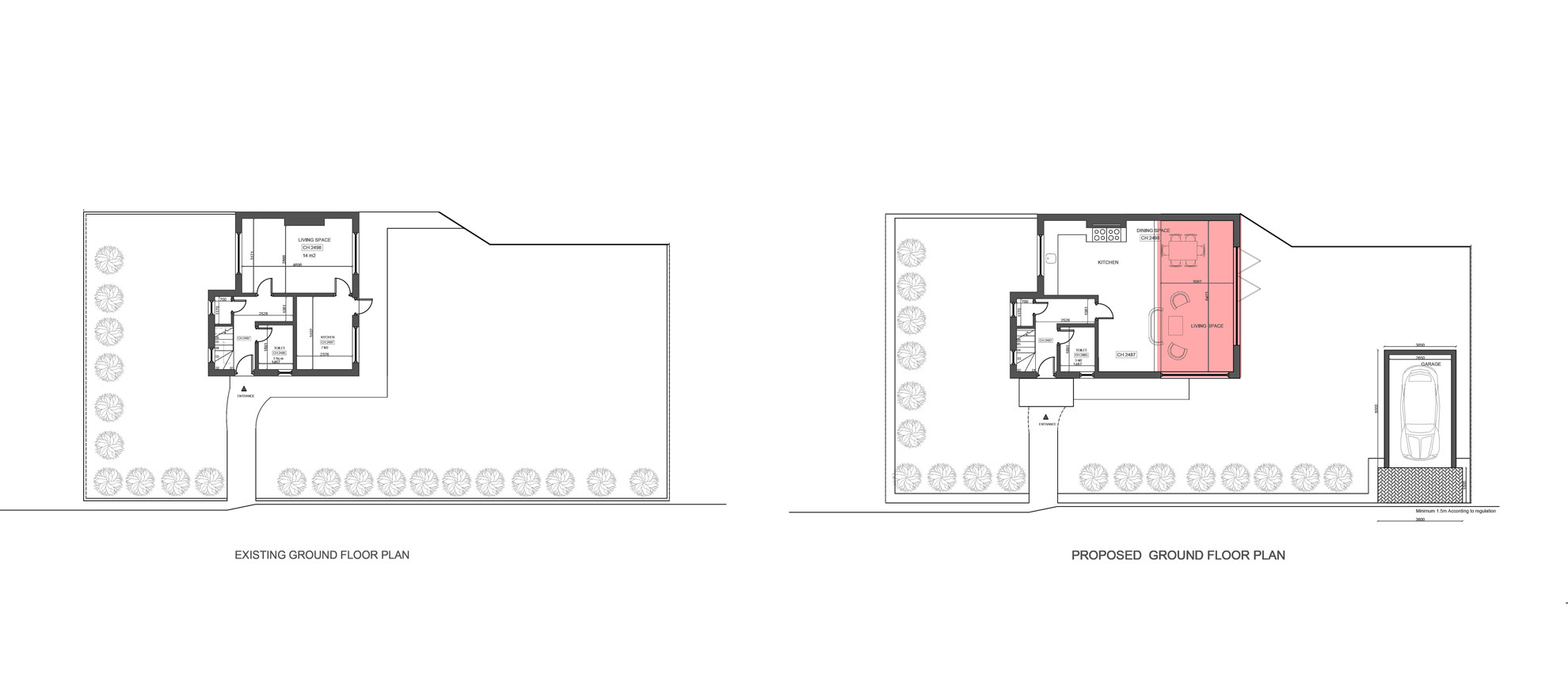 Roof-Terrace-&-Garage-conversion-in-Croydon-Ground-Floor-Plan
