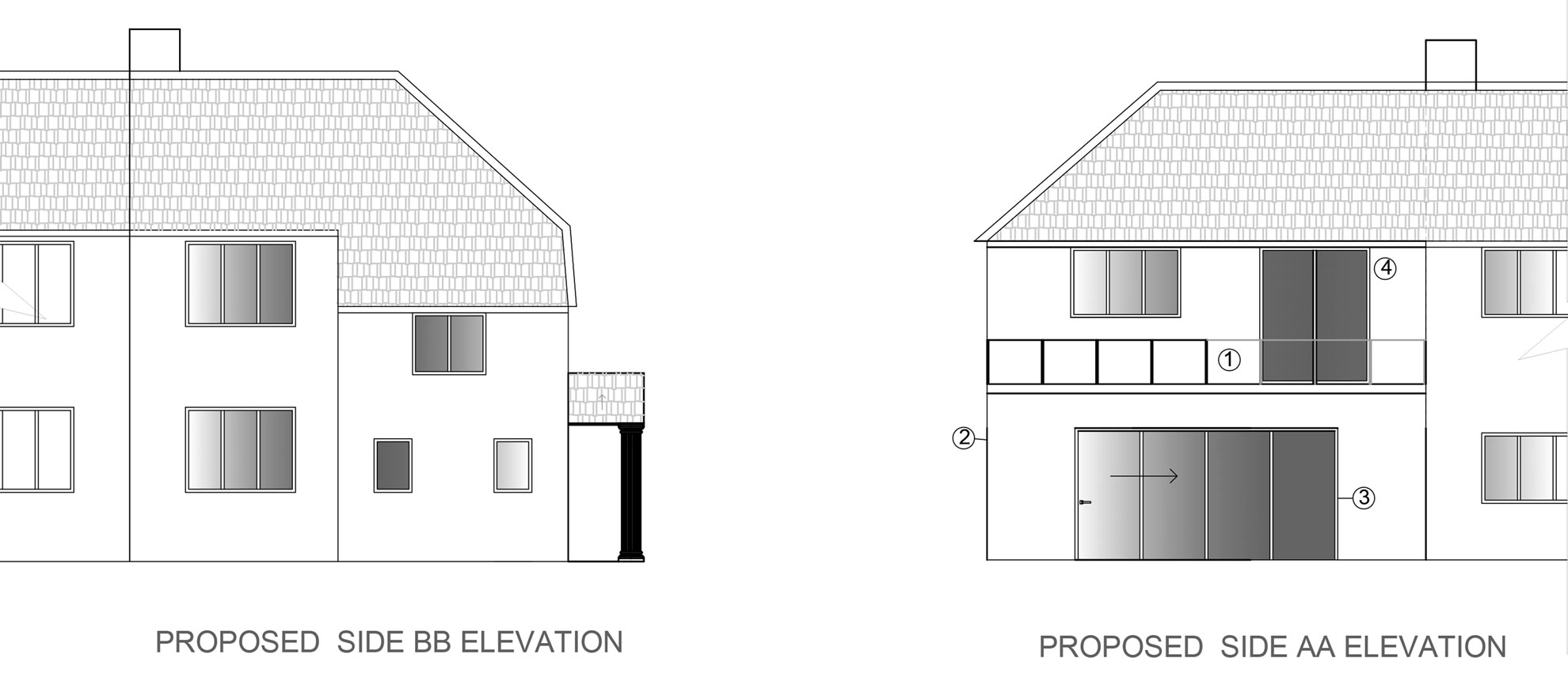 Roof-Terrace-&-Garage-conversion-in-Croydon-PROPOSED-ELEVATIONS
