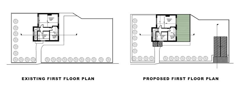 plans for article on Roof Terrace & Garage conversion in Croydon