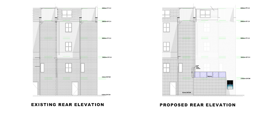 plans for portfolio project on Basement Extension in Islington