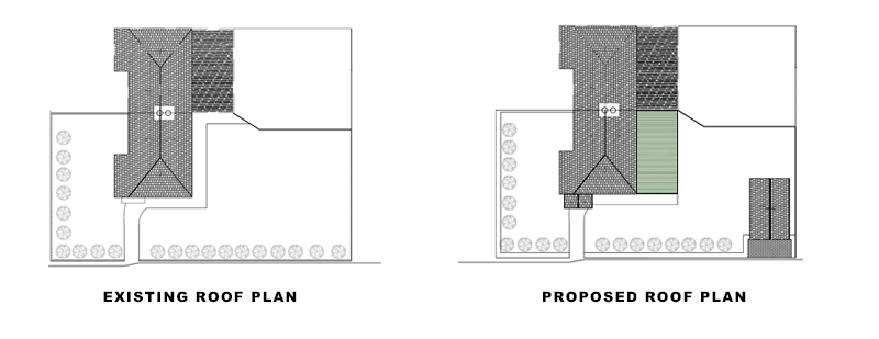 roof plans for article on Roof Terrace & Garage conversion in Croydon