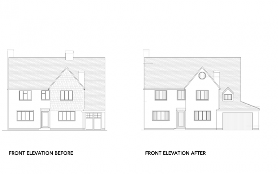 Extension-Architecture-Double-Storey-Rear-Extension-in-Banstead,-London-Front-Elevation
