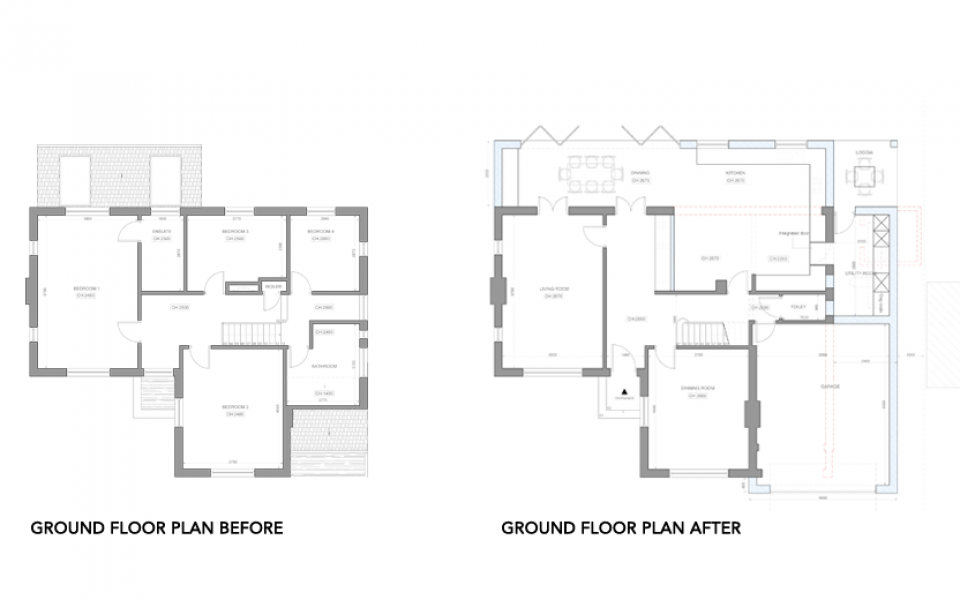 Extension-Architecture-Double-Storey-Rear-Extension-in-Banstead,-London-Ground-Floor-Plan