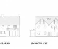 Extension-Architecture-Double-Storey-Rear-Extension-In-Banstead,-London-Rear-Elevation