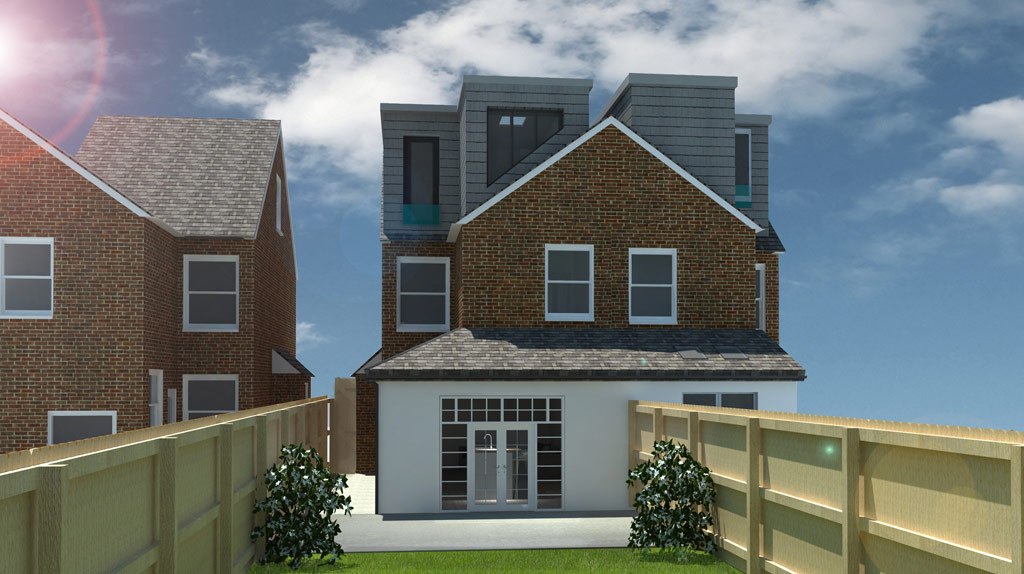 Get Planning Permission for side extensions and loft convrsions