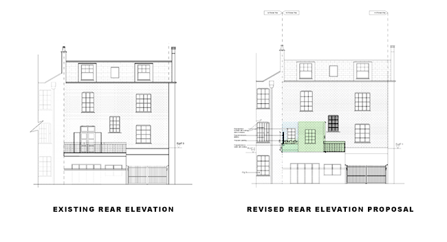 additional storey revised rear elevation for article on double storey rear extension in islington