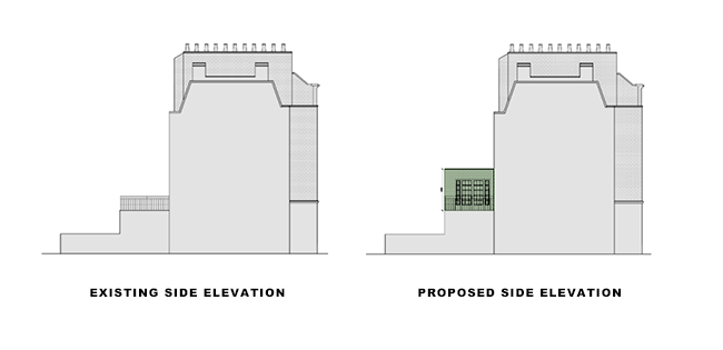 additional storey side elevation for article on double storey rear extension in islington