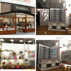 Image of a shop which had a change of use. The Fiorelli shop in London. sought and was granted Planning Permission