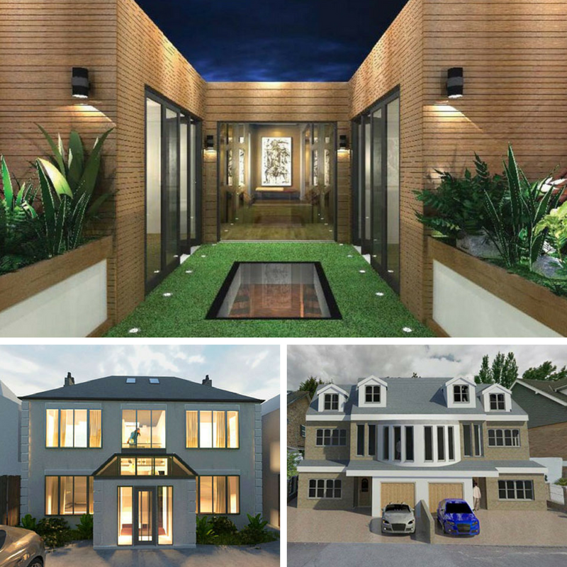 ... Image depicting the exterior design of homes in Ealing and Epsom London designed by & Architect vs Interior Designer - Extension Architecture London ...